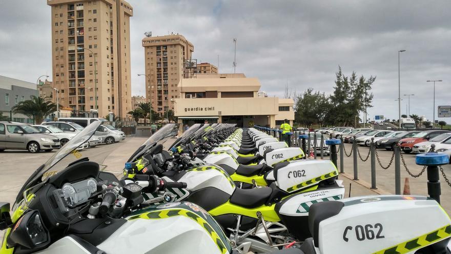 Las nuevas motos de la Guardia Civil en Gran Canaria.