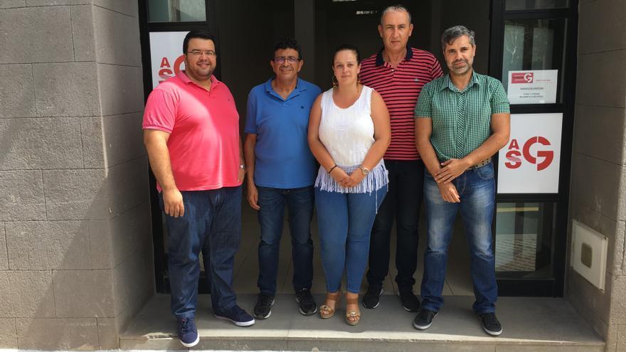 Concejales y miembros de la Comisión Gestora de ASG en Valle Gran Rey