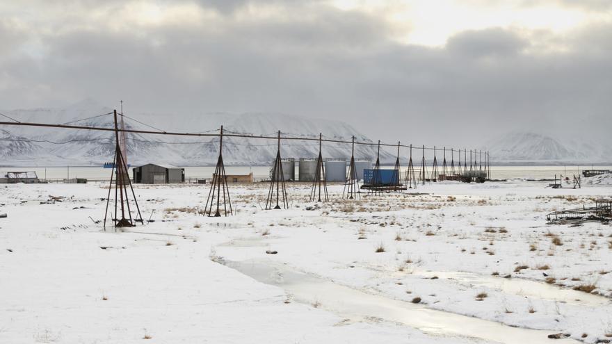 Pyramiden un asentamiento minero de carbón soviético en el archipiélago de Svalbard, Noruega