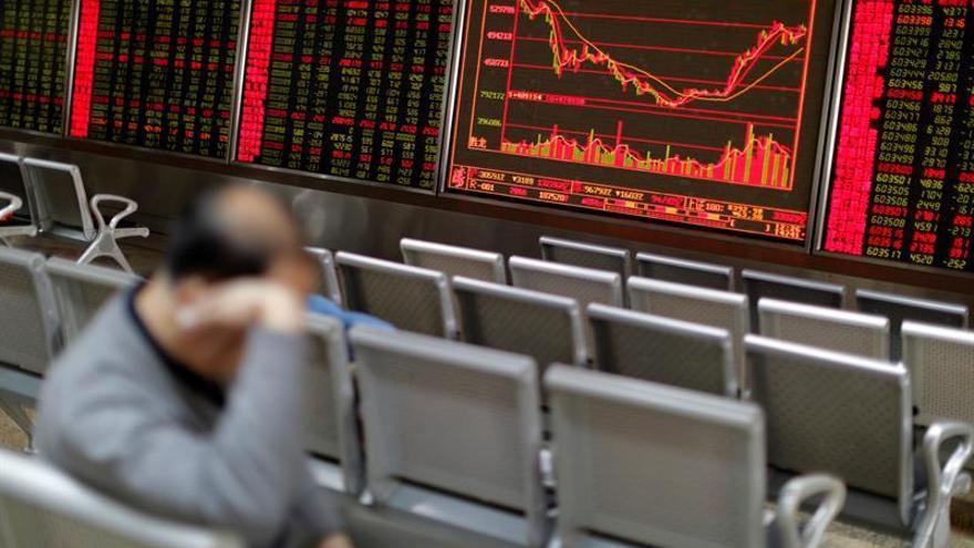 La Bolsa de Shanghái inicia la jornada con una bajada del 1,51 %