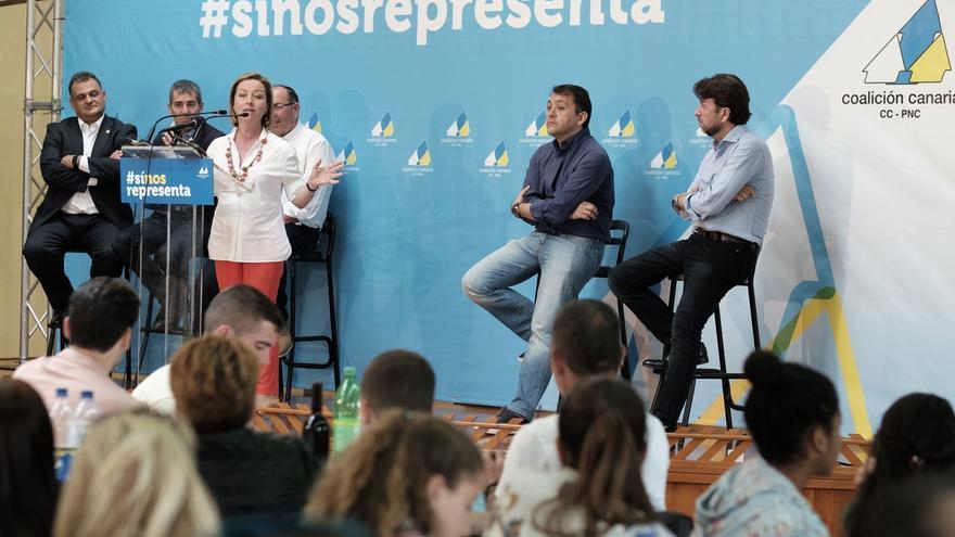 Mitin de Coalición Canaria en La Laguna.