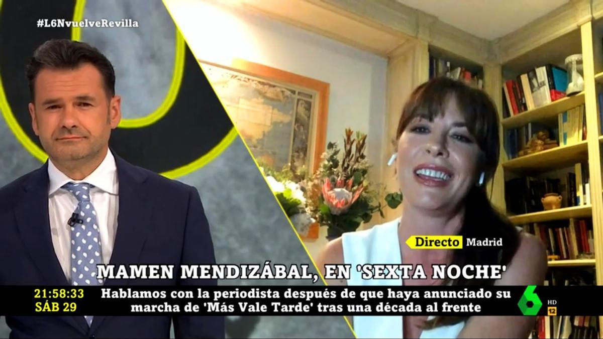Mamen Mendizábal con Iñaki López en 'laSexta Noche'