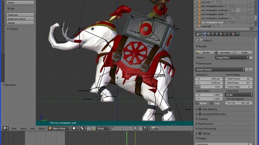 El modelado en 3D de uno de los miembros de la comunidad