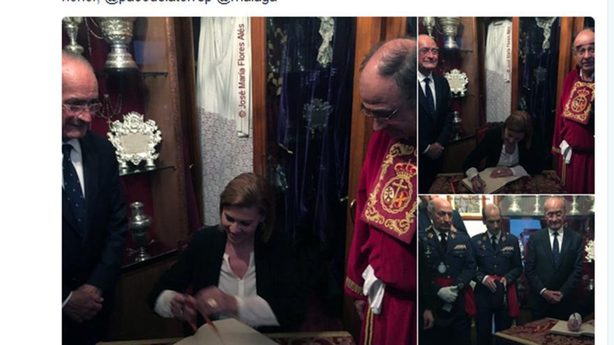La Cofradía de la Misericordia, en Twitter sobre la visita de Cospedal.