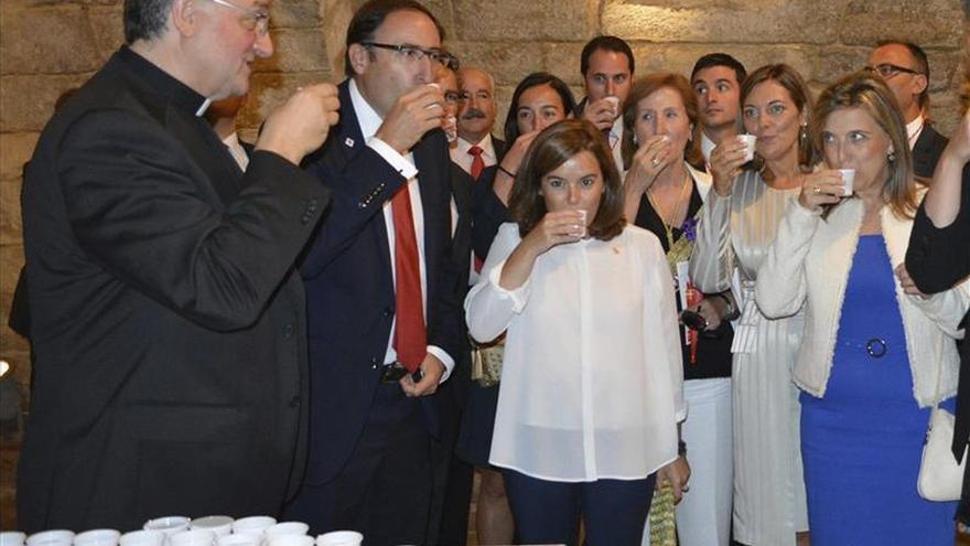 Sáenz de Santamaría vuelve a Palencia en sus fiestas patronales