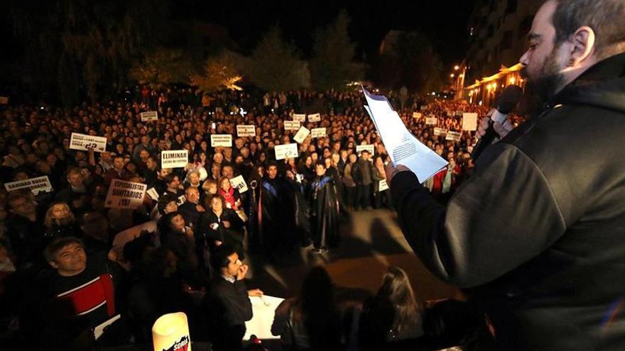 """Soria se viste """"de luto"""" para protestar por las carencias de sanidad pública"""