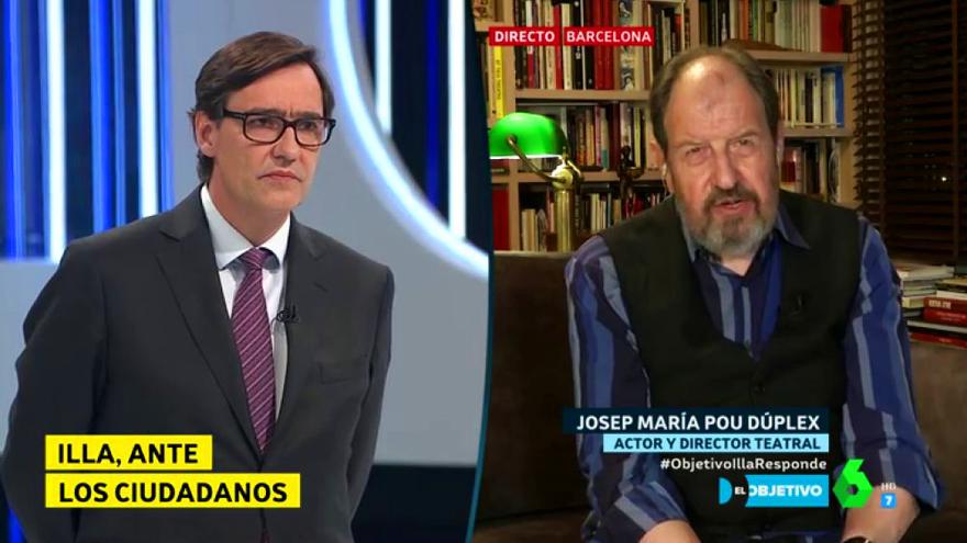 El ministro Salvador Illa y Josep María Pou en 'El Objetivo'