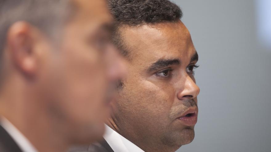 Abel Morales, en la rueda de prensa celebrada este viernes