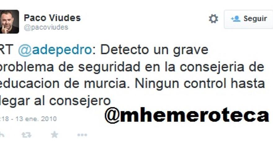 Consejero Murcia De Pedro