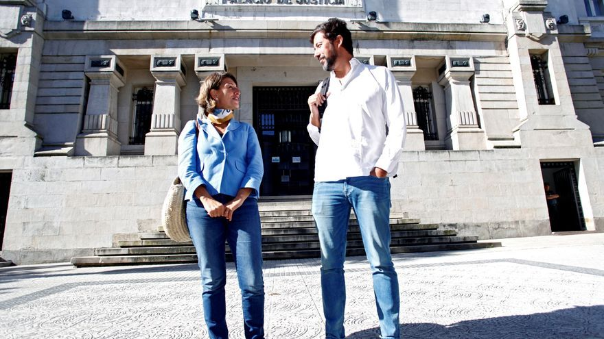 Yolanda Díaz y Antón Gómez Reino en una imagen de archivo de octubre de 2018.