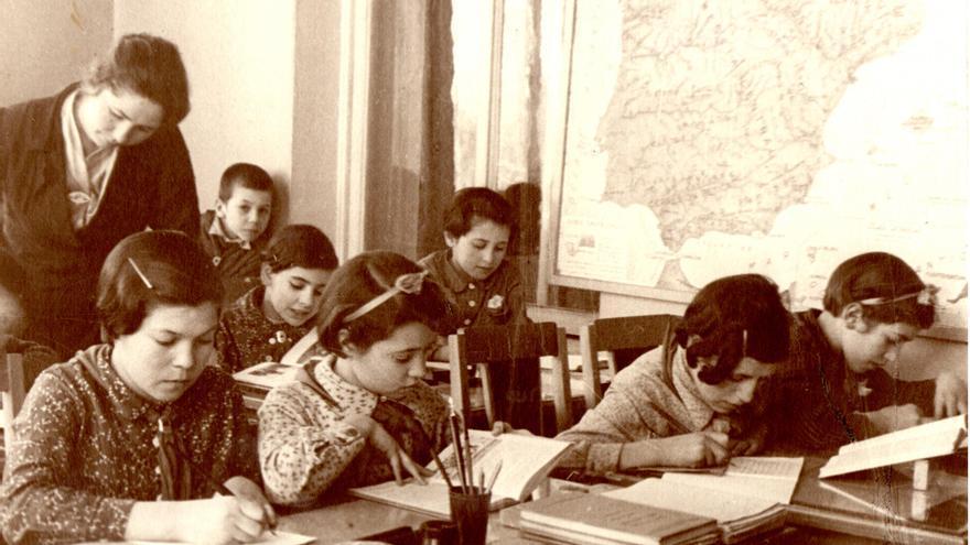 Los niños españoles fueron escolarizados en la Unión Soviética.   AGE