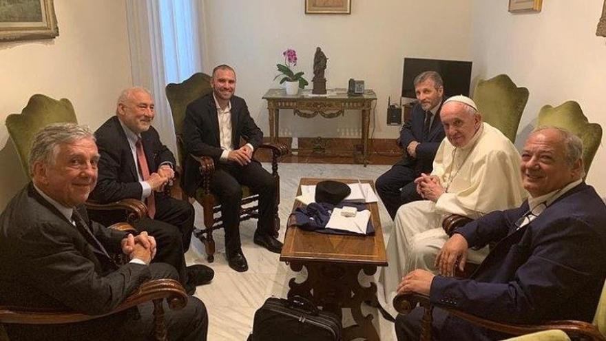 Reunión del Papa Francisco y Joseph Stiglitz.