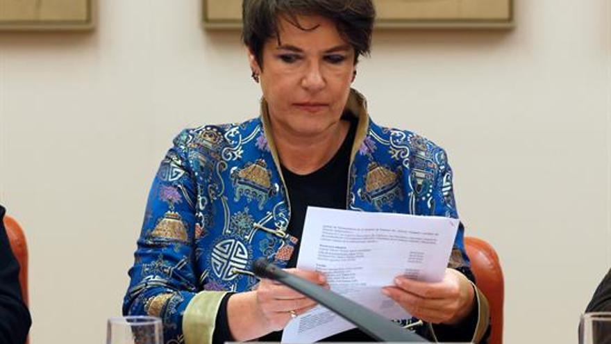 Francesca Friz-Prguda, representante de Acnur en España, durante su comparecencia ante la Comisión Mixta para la UE | EFE