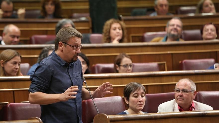"""Domènech avisa de que los encarcelamientos de Junqueras y exconsejeros crean """"mayor fractura social"""""""