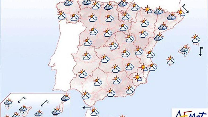 Hoy, nublado en casi toda España con chubascos en el norte y el este