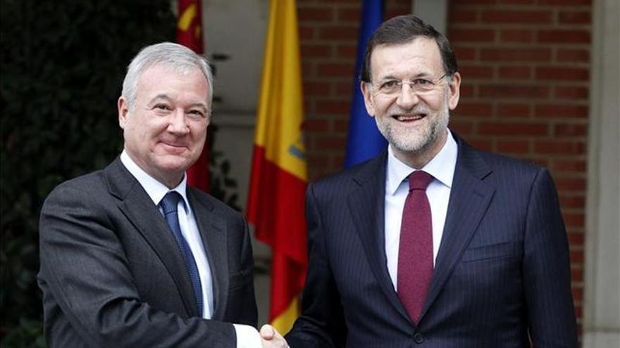 Ramón Luis Valcárcel con Mariano Rajoy