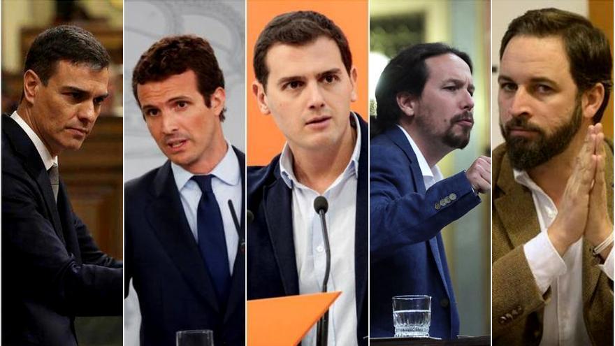 Los principales líderes políticos para el 28-A