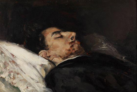 Gustavo Adolfo Becquer en su lecho de muerte (1870) Vicente Palmaroli