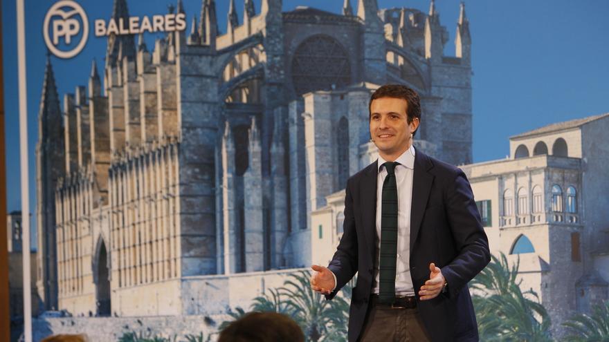 Pablo Casado protagoniza este miércoles el acto central de campaña del PP balear en Palma