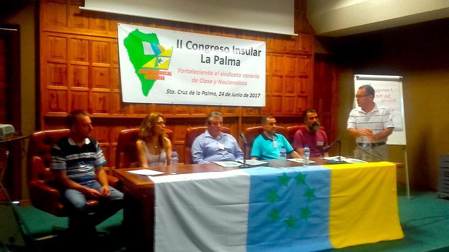 Mesa del II Congreso de Intersindical Canaria.