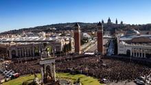 Miles de músicos dan un concierto en Barcelona por la libertad de los encarcelados