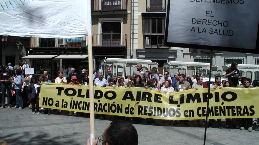 Manifestación de la Plataforma Toledo Aire Limpio