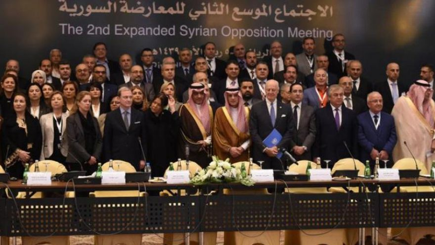 Apertura de la conferencia de la oposición organizada en Arabia Saudí el 22 y 23 de noviembre.