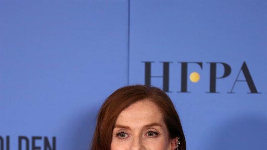 """Isabelle Huppert, Globo de Oro a la mejor actriz dramática por """"Elle"""""""
