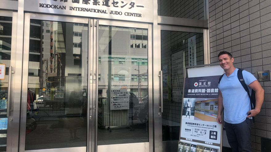 David Pérez, a las puertas del Kodokan en la ciudad de Tokio