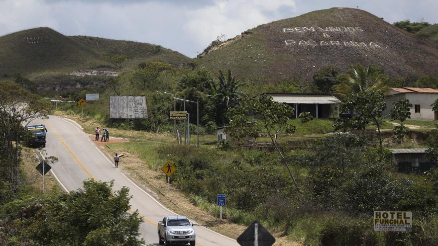 Entrada de Pacaraima, la primera localidad fronteriza entre ambos países.