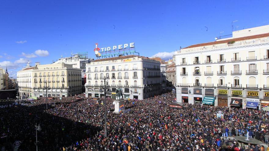 """Panorámica de la Puerta del Sol en la """"Marcha del Cambio"""" de Podemos \ Marta Jara"""