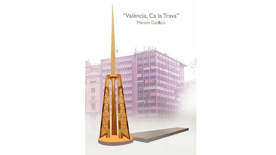 Imagen del proyecto de monumento para 2017 'València, Ca la Trava'