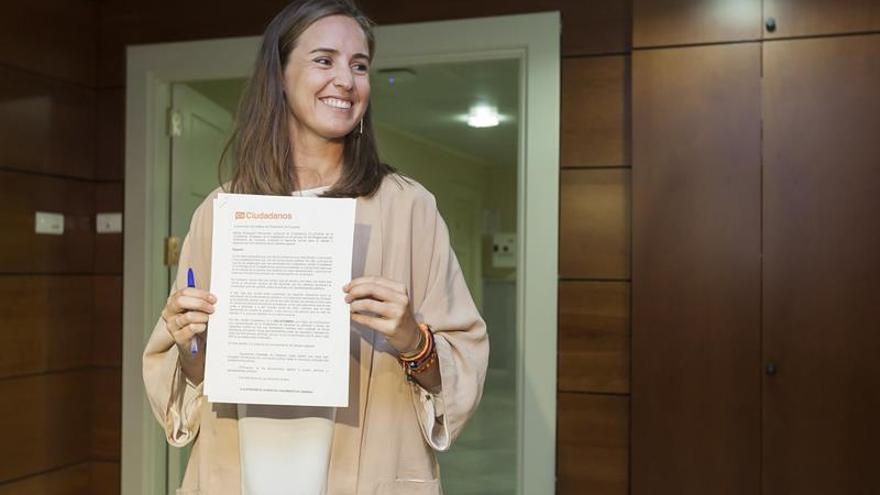 La portavoz de Ciudadanos en Canarias y diputada nacional, Melisa Rodríguez. EFE/Ramón de la Rocha