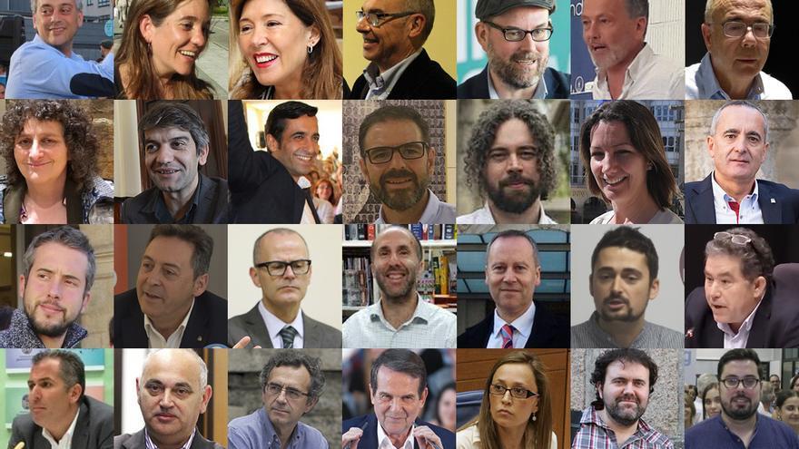 Cabezas de listas de las principales fuerzas políticas en las siete ciudades gallegas