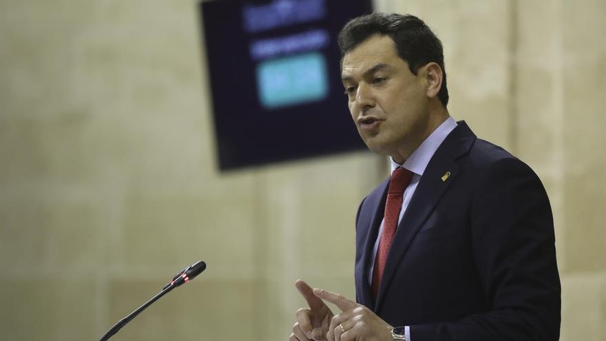 Las preguntas a Moreno ante el Pleno del Parlamento se sustanciarán este miércoles por la tarde