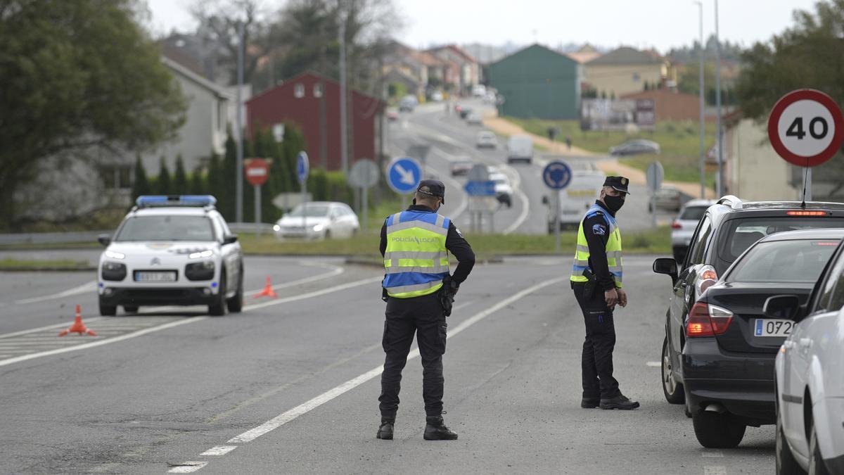 Control de policía en una carretera