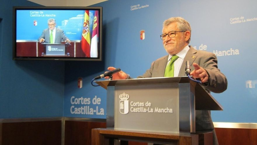 Ángel Felpeto, hoy, en las Cortes de Castilla-La Mancha
