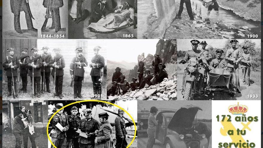 El tuit borrado por Interior en el que aparecía la foto del soldado nazi