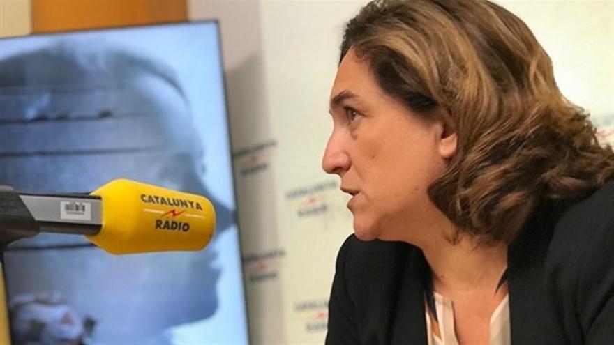 Ada Colau, en una entrevista para Catalunya Ràdio