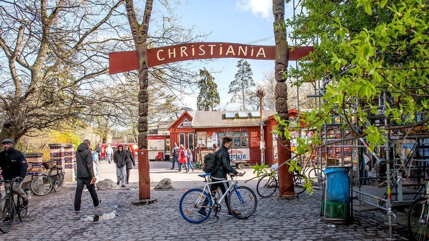 El barrio autogobernado de Christiana (Dinamarca).