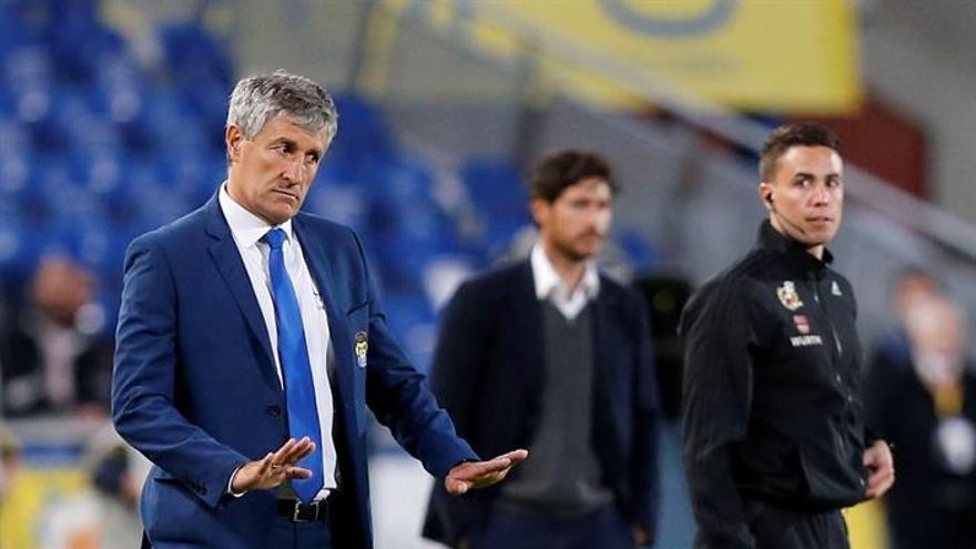 El entrenador de la UD Las Palmas, Quique Setién. EFE/Elvira Urquijo A.