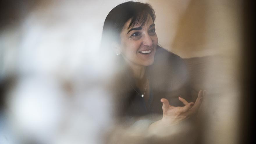 Silvia Sanz Torres, durante un momento de la entrevista