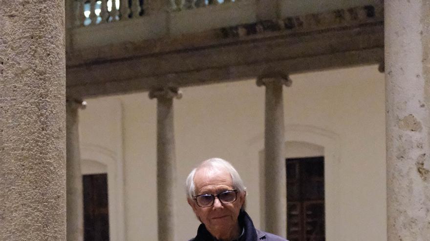El director de cine británico Ken Loach en La Nau de València.