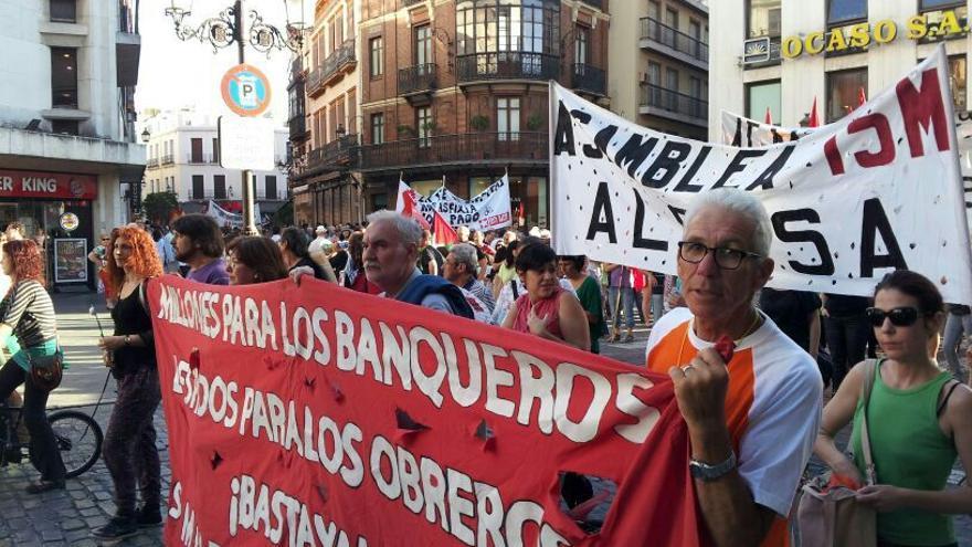 Manifestación contra la troika en Sevilla