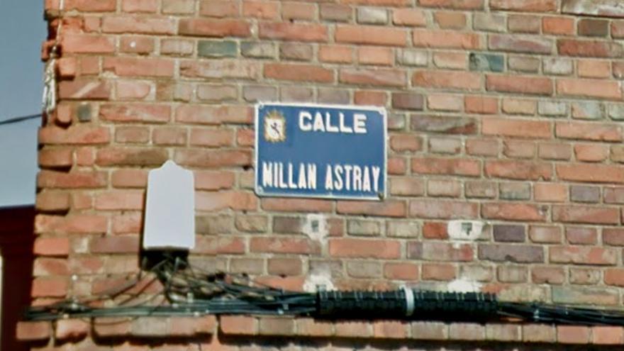 La calle Millán Astray en León.