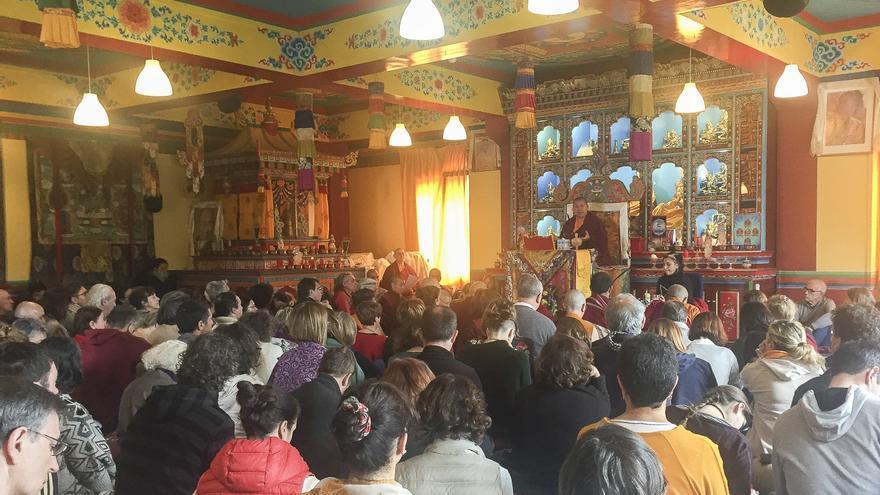 Sala de Enseñanzas en la comunidad budista de Panillo