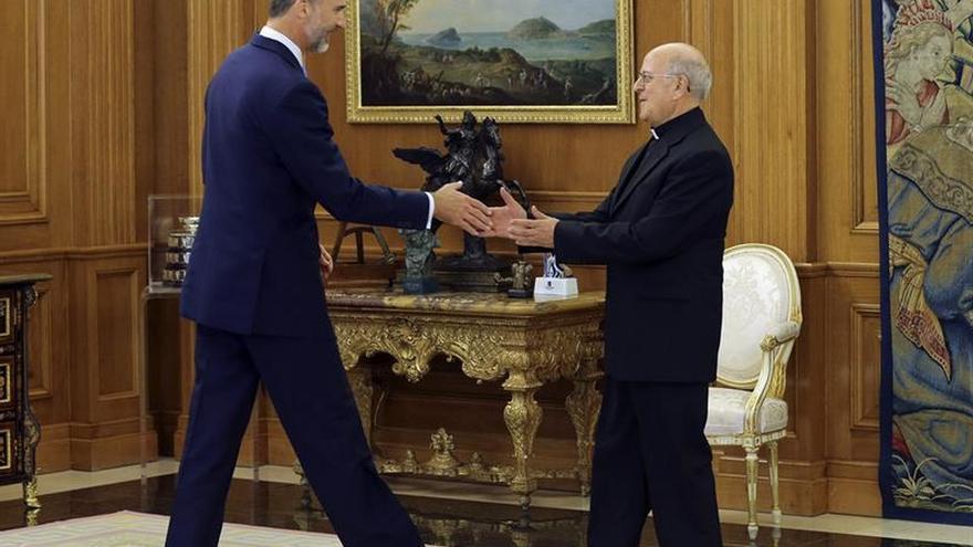El rey recibe a la cúpula de la Conferencia Episcopal y la Fundación Pablo VI
