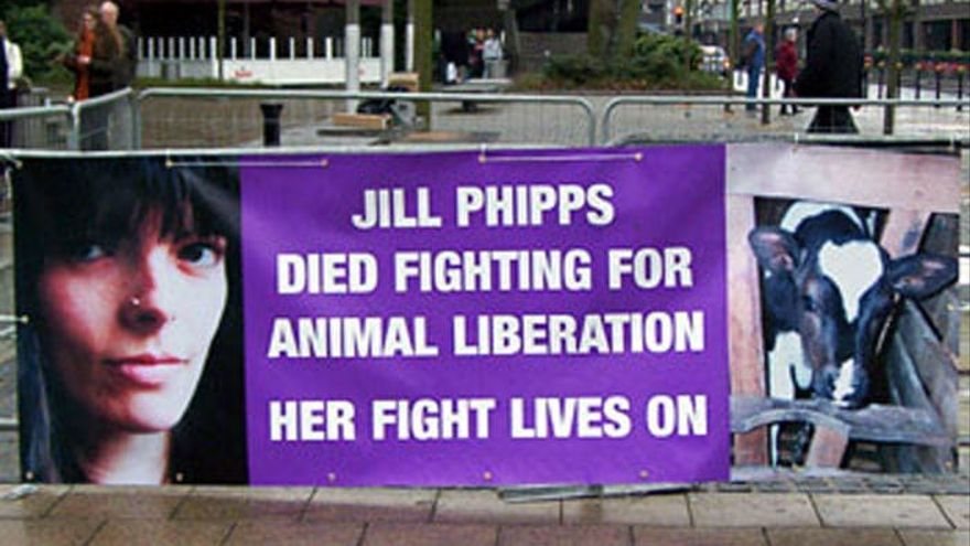 Cartel conmemorativo de la lucha de Jull Phipps