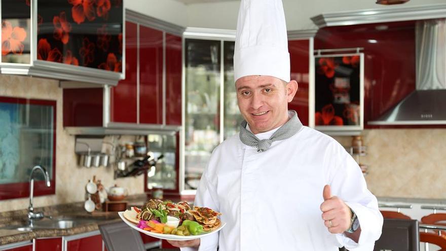 Warif, el chef sirio de Gaza   Foto de Warif Hamido cedida a eldiario.es