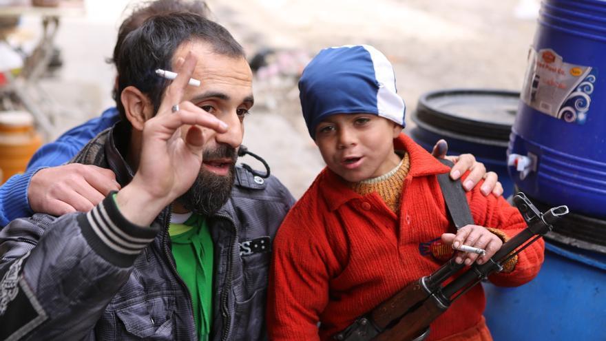 Un total de 17 países siguen reclutando a menores soldado © Thomas Rassloff/picture-alliance/dpa/AP ImagesPhoto/Hani Mohammed